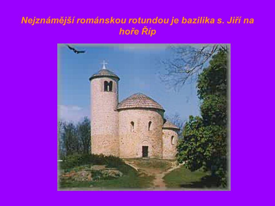 Nejznámější románskou rotundou je bazilika s. Jiří na hoře Říp