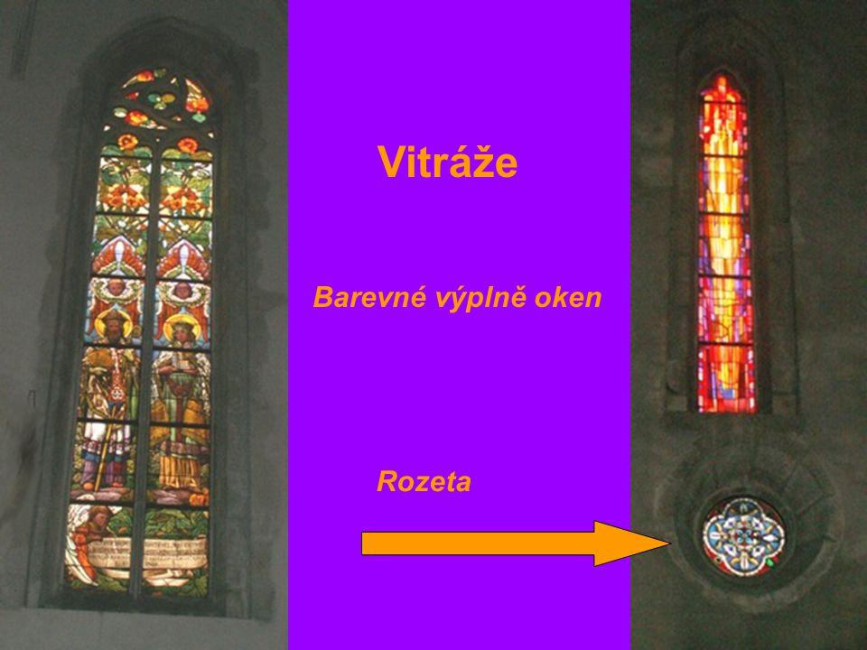 Vitráže Rozeta Barevné výplně oken