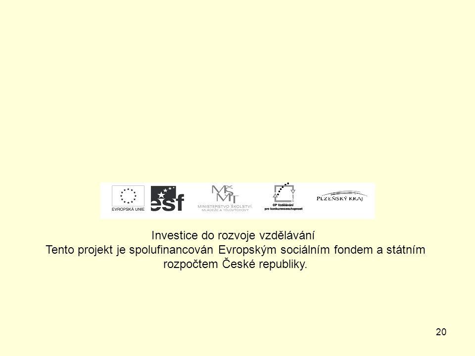 19 Zdroje – vlastní fotografie autorky prezentace Mgr. Jana Sedláčková
