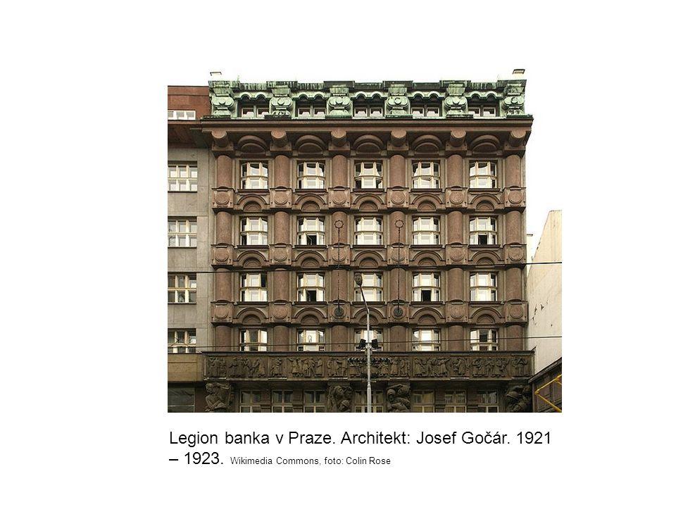 Legion banka v Praze. Architekt: Josef Gočár. 1921 – 1923. Wikimedia Commons, foto: Colin Rose