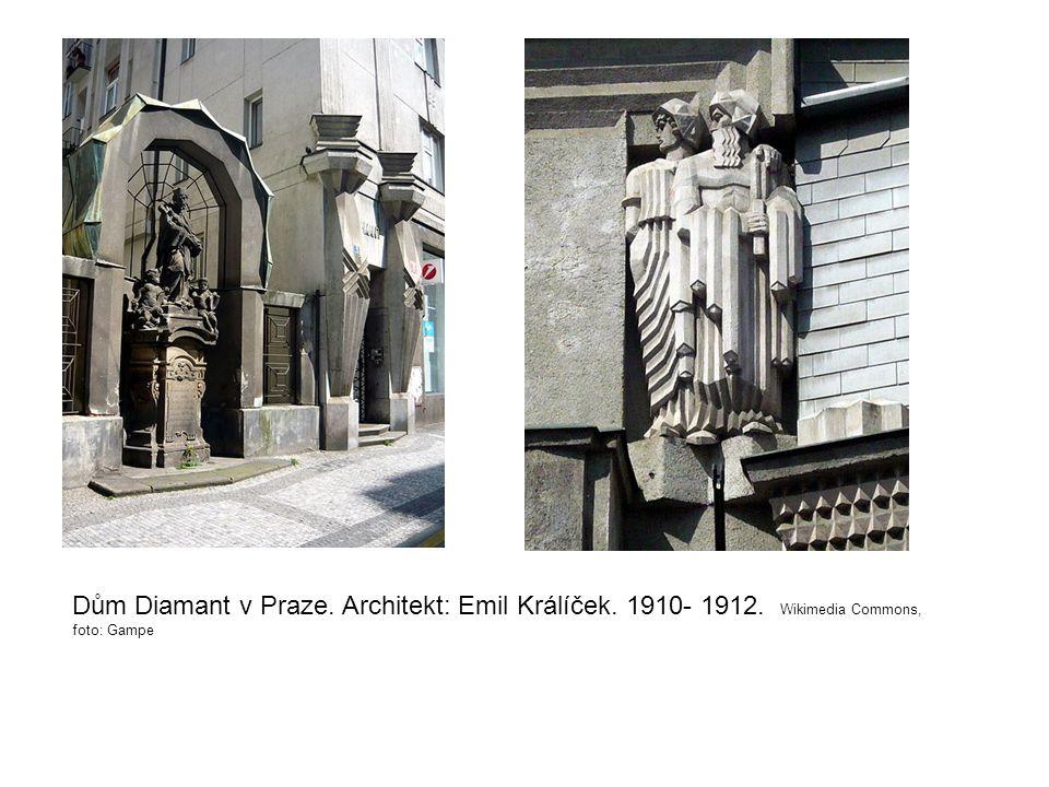 Dům Diamant v Praze. Architekt: Emil Králíček. 1910- 1912. Wikimedia Commons, foto: Gampe