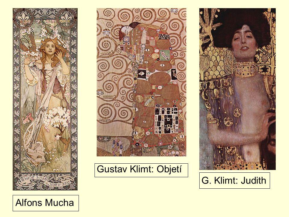 Alfons Mucha Gustav Klimt: Objetí G. Klimt: Judith