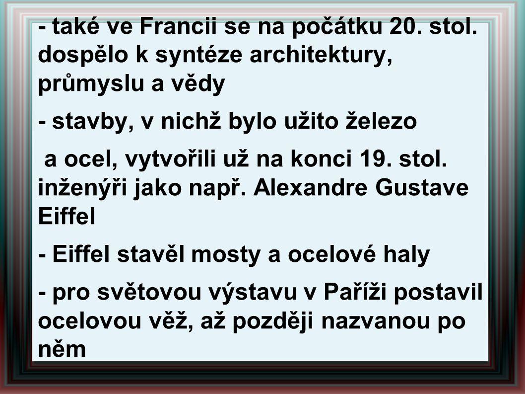 - Corbusierův vliv na architekturu 20.stol.