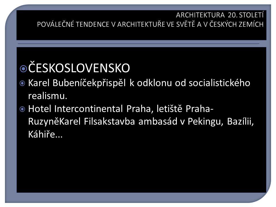  ČESKOSLOVENSKO  Karel Bubeníčekpřispěl k odklonu od socialistického realismu.