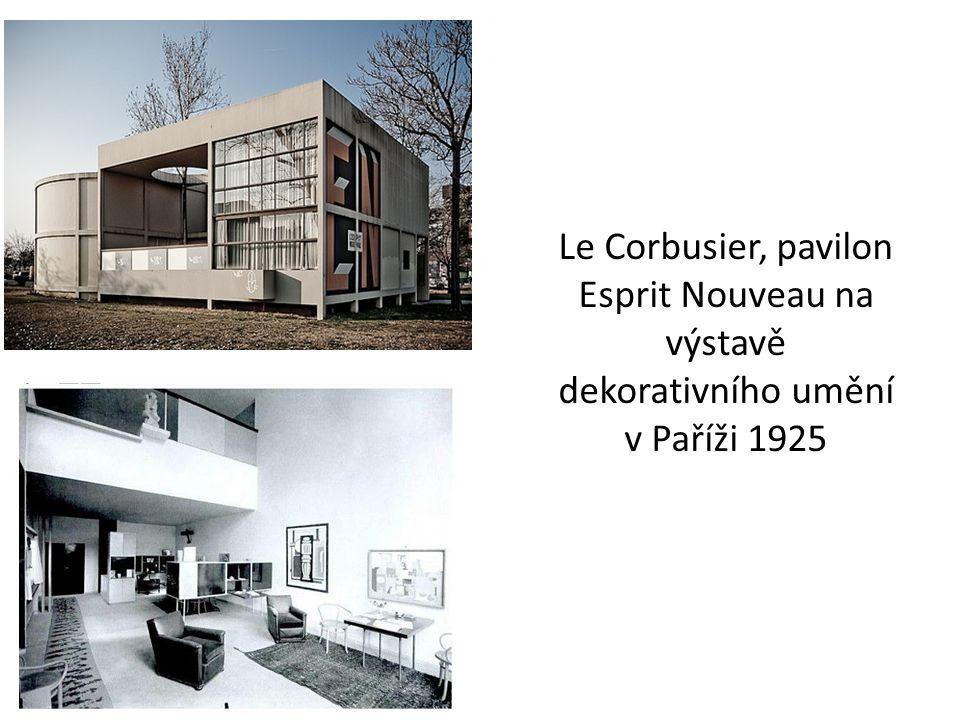 Le Corbusier, pavilon Esprit Nouveau na výstavě dekorativního umění v Paříži 1925