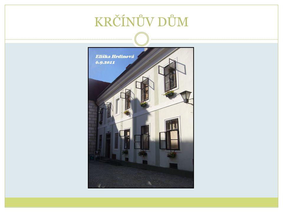 Zeměpisné souřadnice: 14° 46 14 E, 49° 0 13 N Nachází se v blízkosti Zámku Třeboň, v Krčínově ulici