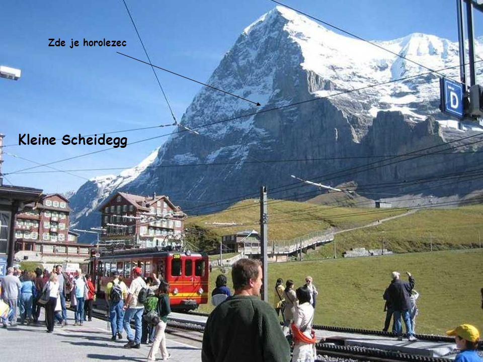 Jízda na Kleine Scheidegg Slavná severní stěnu Eigeru