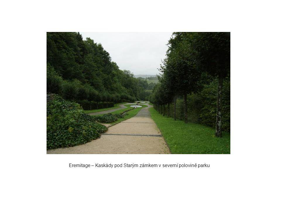 Eremitage – Kaskády pod Starým zámkem v severní polovině parku