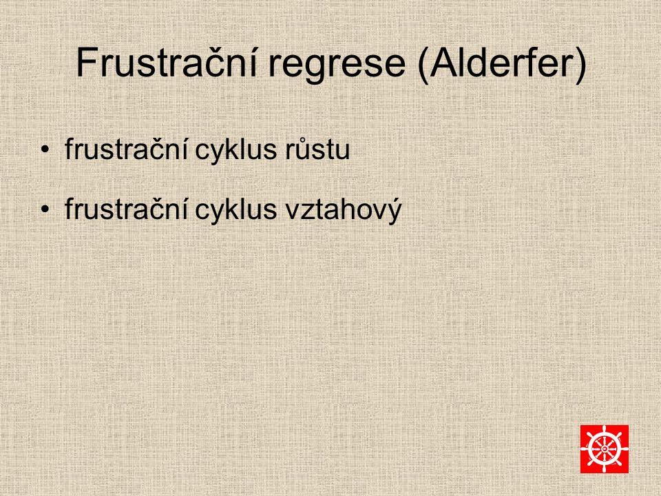 Frustrační regrese (Alderfer) frustrační cyklus růstu frustrační cyklus vztahový