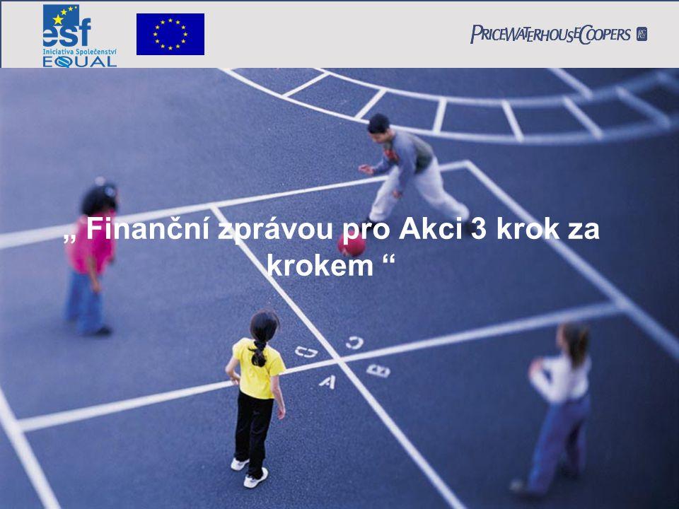 """"""" Finanční zprávou pro Akci 3 krok za krokem"""