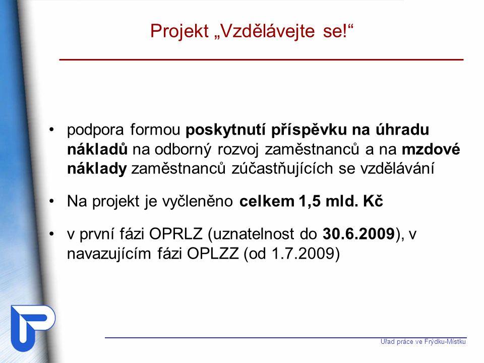 Úřad práce ve Frýdku-Místku Projekt Vzdělávejte se.