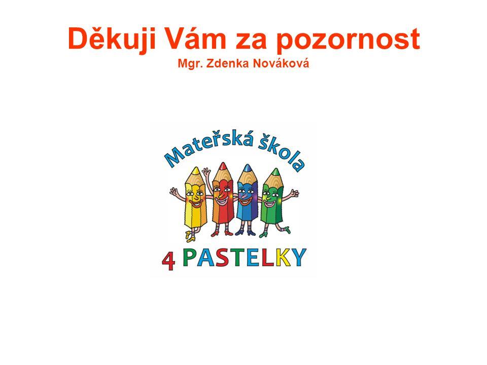 Děkuji Vám za pozornost Mgr. Zdenka Nováková
