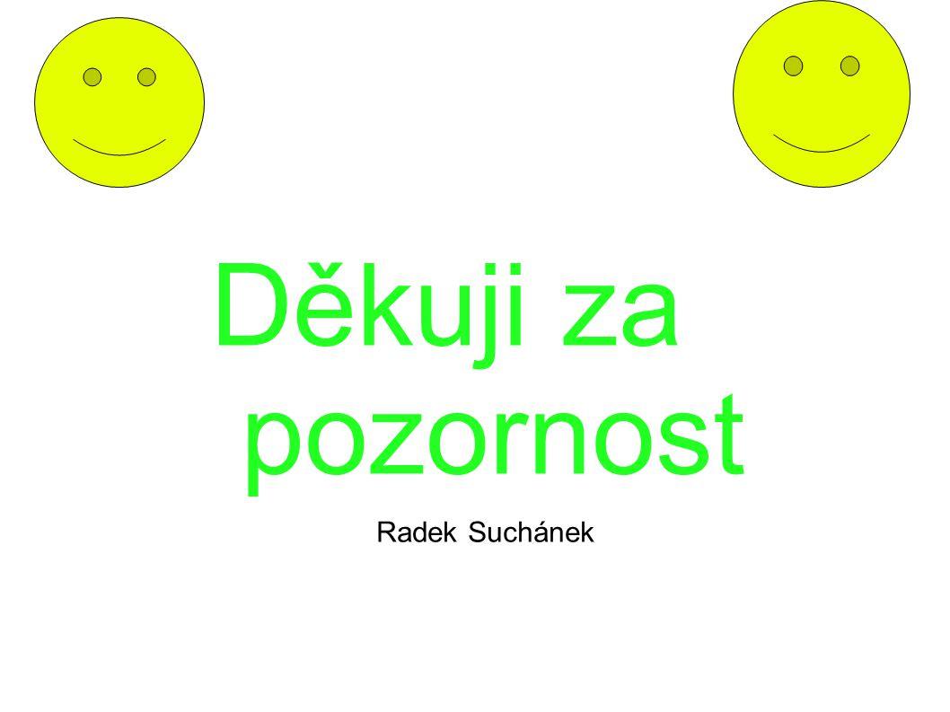 Děkuji za pozornost Radek Suchánek