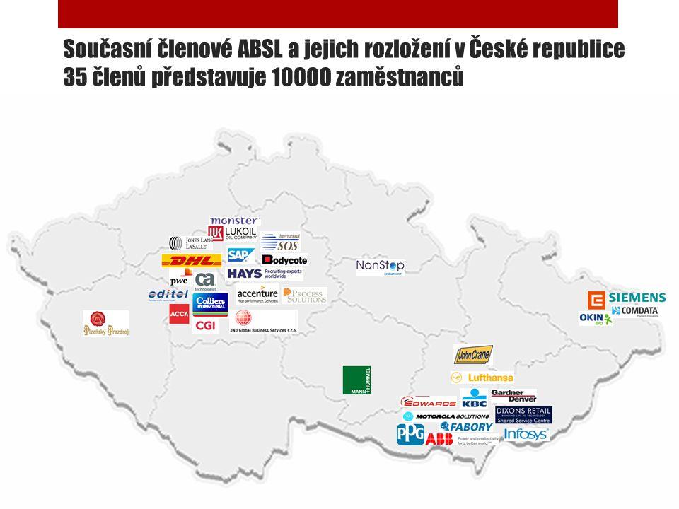 Současní členové ABSL a jejich rozložení v České republice 35 členů představuje 10OOO zaměstnanců