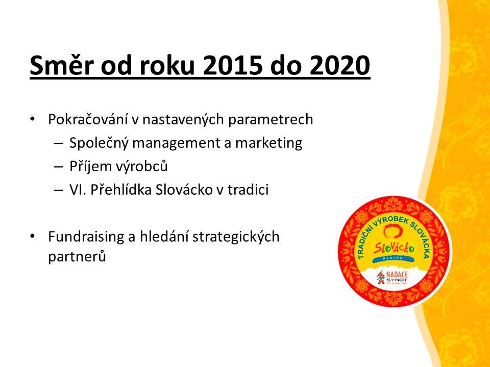 Směr od roku 2015 do 2020 Pokračování v nastavených parametrech – Společný management a marketing – Příjem výrobců – VI. Přehlídka Slovácko v tradici