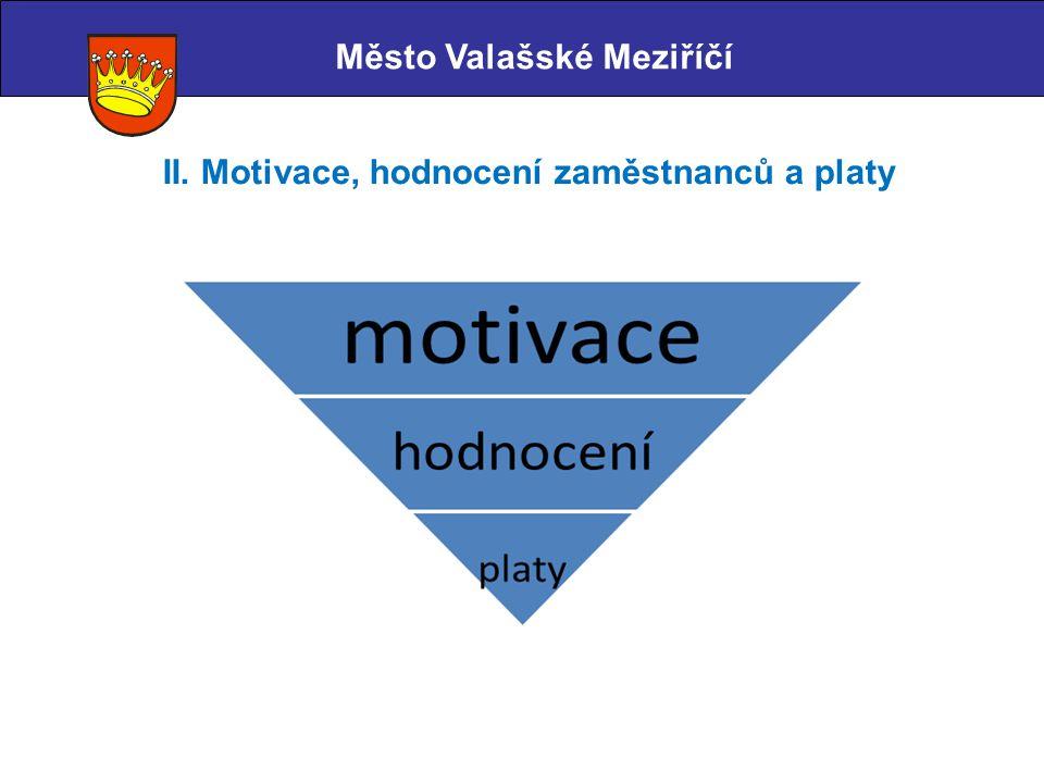 Město Valašské Meziříčí II. Motivace, hodnocení zaměstnanců a platy