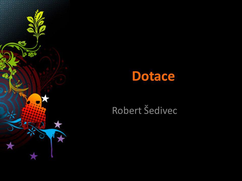 Dotace Robert Šedivec