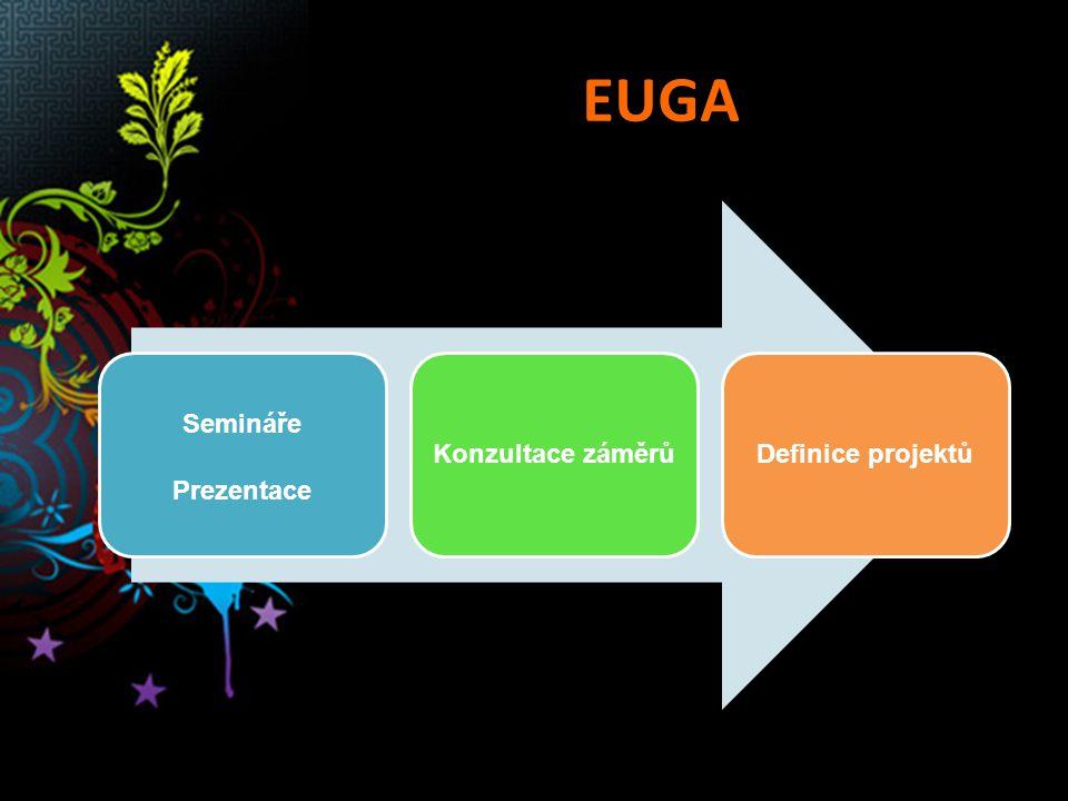EUGA Semináře Prezentace Konzultace záměrůDefinice projektů