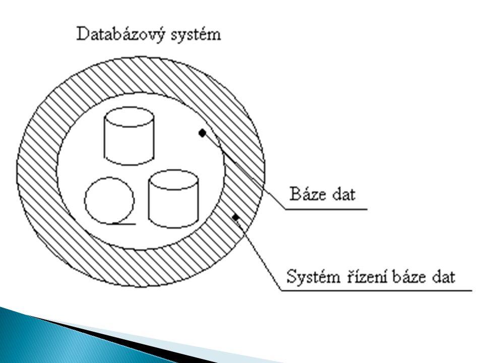  Systém řízení báze dat (SŘBD) lze chápat jako souhrn procedur a datových struktur, které zajišťují nezávislost databázových aplikací na detailech vytváření, výběru, uchování, modifikaci a zabezpečení ochrany databází na fyzických paměťových strukturách počítače.