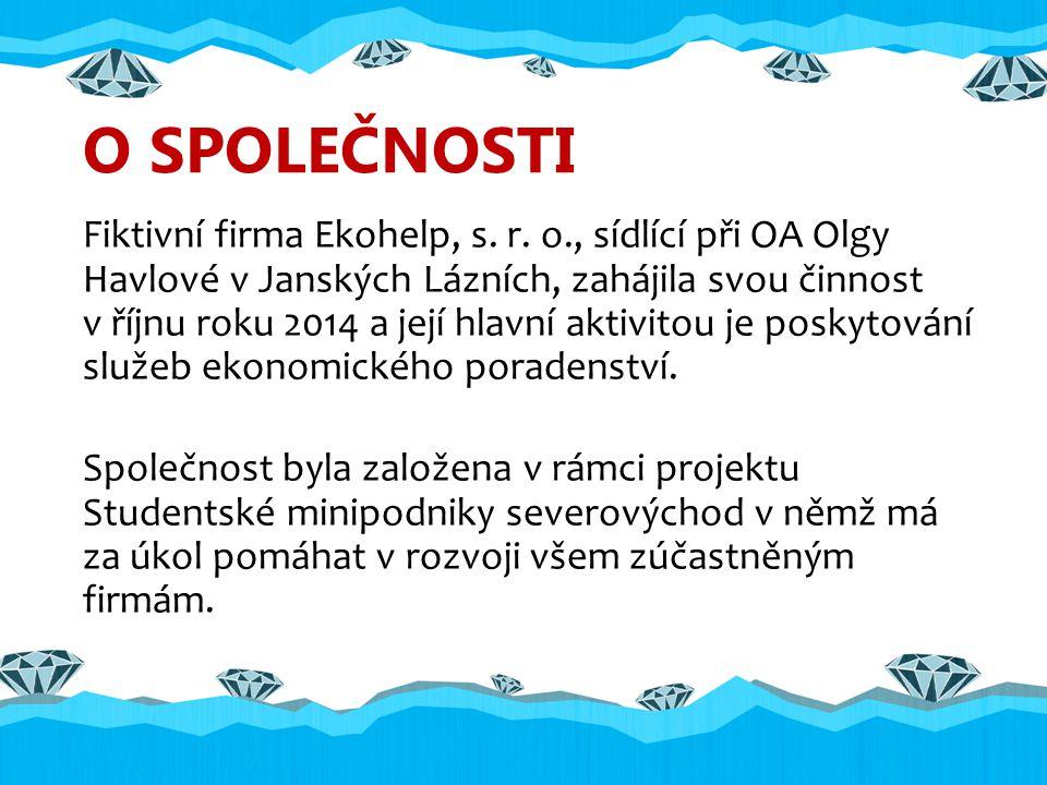 O SPOLEČNOSTI Fiktivní firma Ekohelp, s. r.