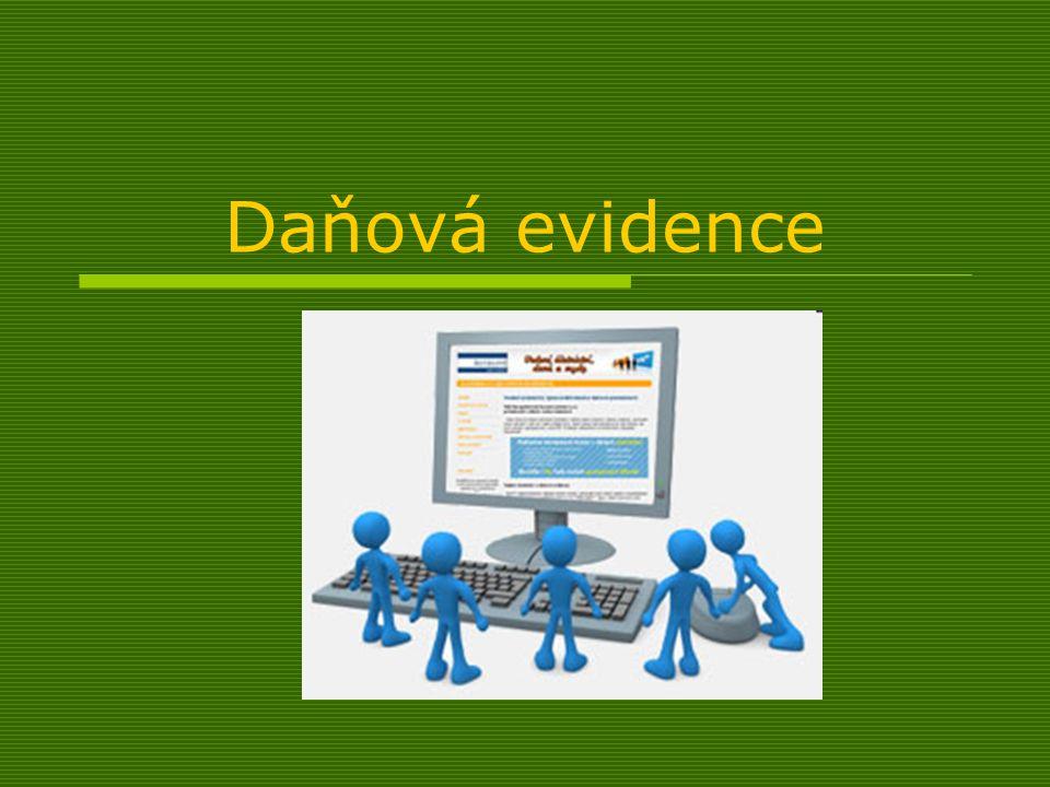  Daňová evidence je určena pro ty subjekty, které nejsou účetní jednotkou ve smyslu Zákona o účetnictví č.