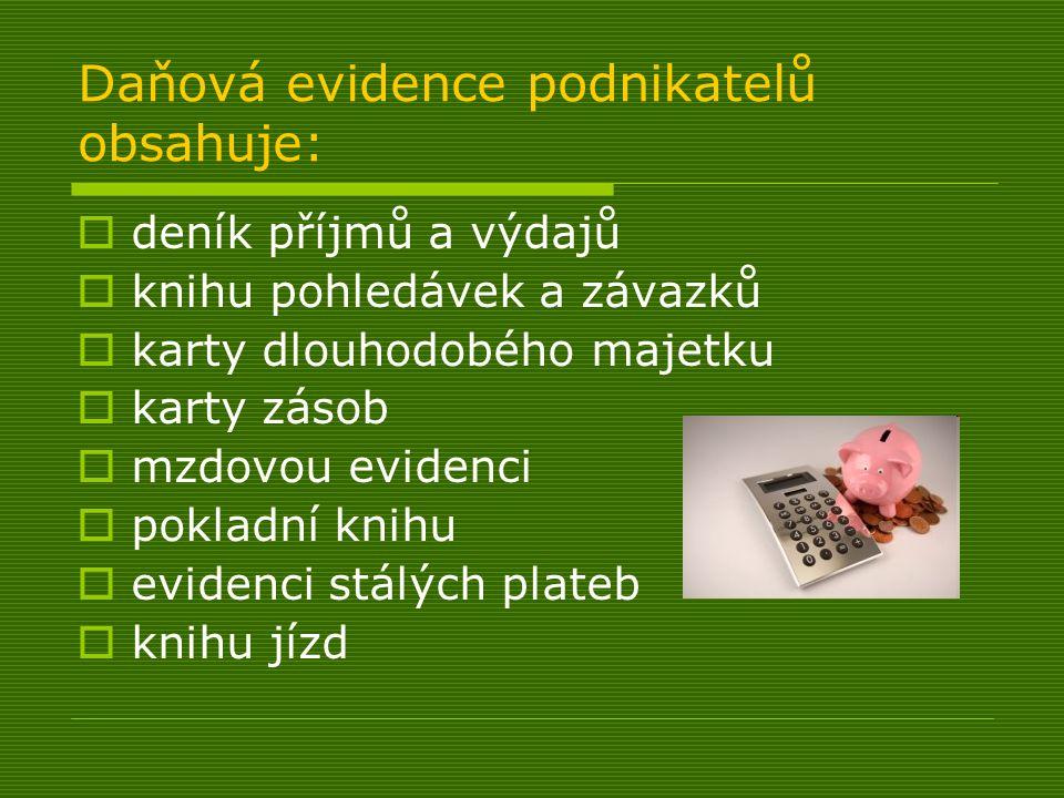 Inventura  peněžního deníku  stav neuhrazených pohledávek a závazků  stav majetku v knihách  stav v ostatních knihách  přepočet cizí měny na českou