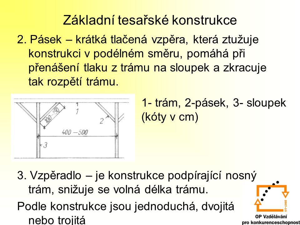 Základní tesařské konstrukce 2.