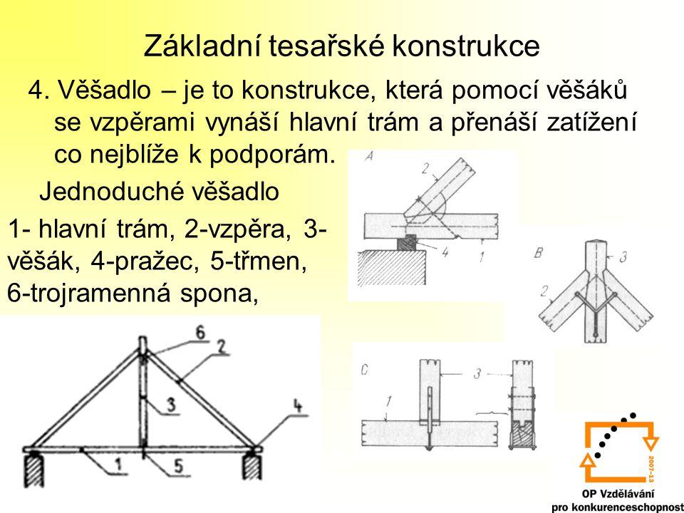 Základní tesařské konstrukce 4.
