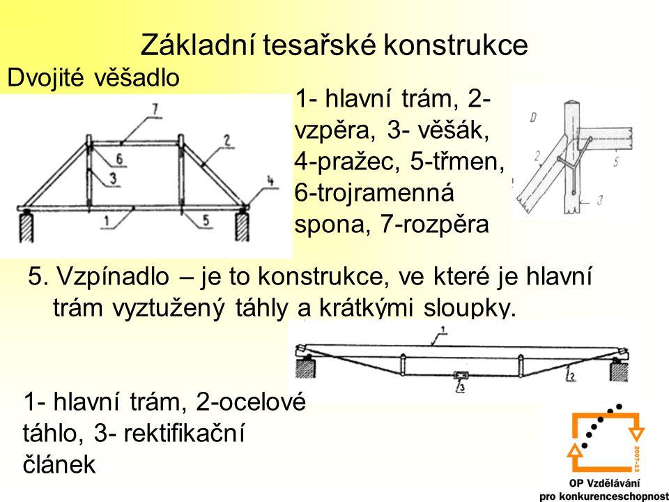 Základní tesařské konstrukce 5.