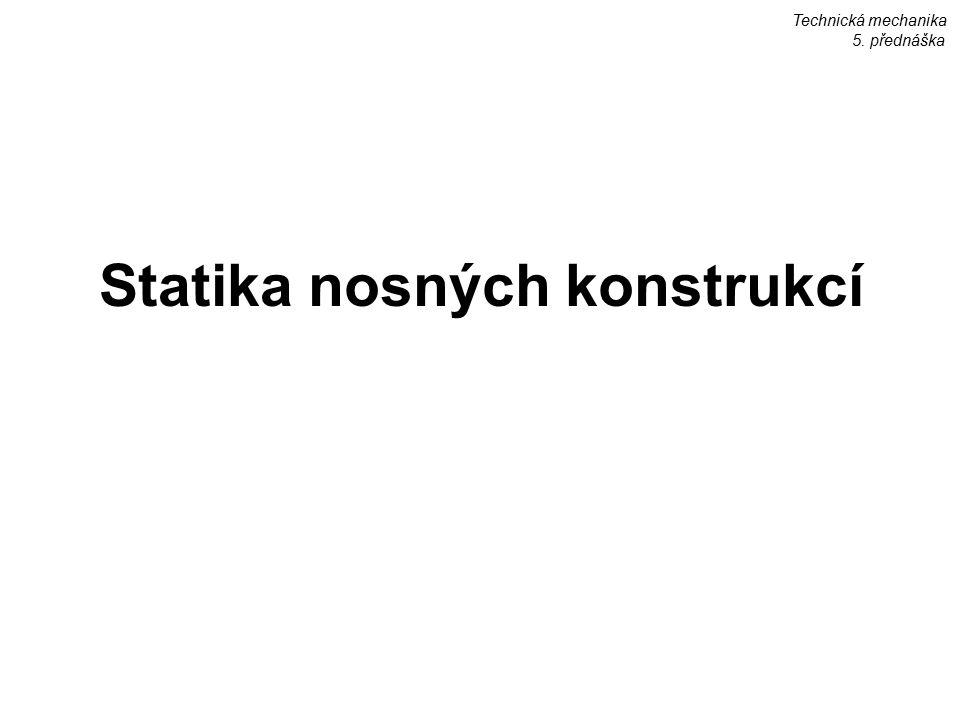 Statika nosných konstrukcí Technická mechanika 5. přednáška
