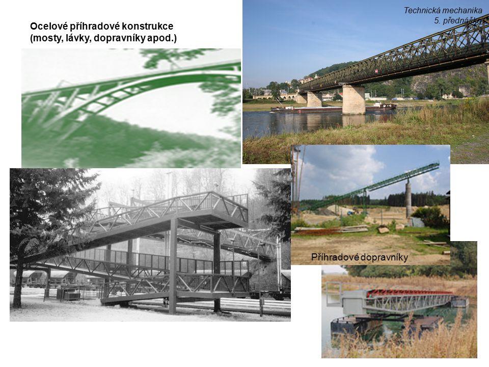 Ocelové příhradové konstrukce (mosty, lávky, dopravníky apod.) Příhradové dopravníky Technická mechanika 5. přednáška