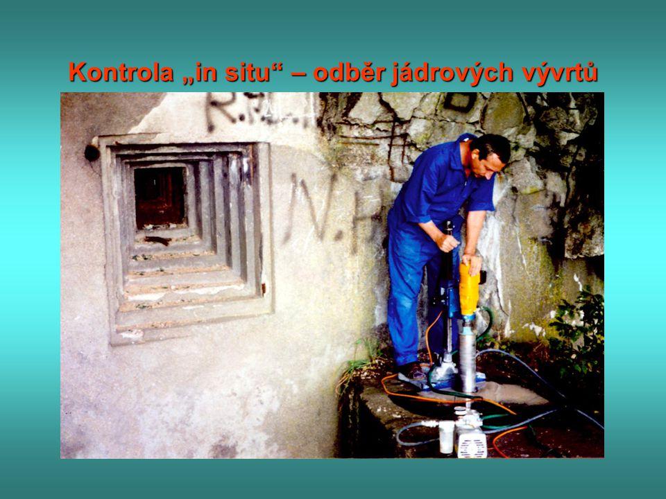 """Kontrola """"in situ – odběr jádrových vývrtů"""