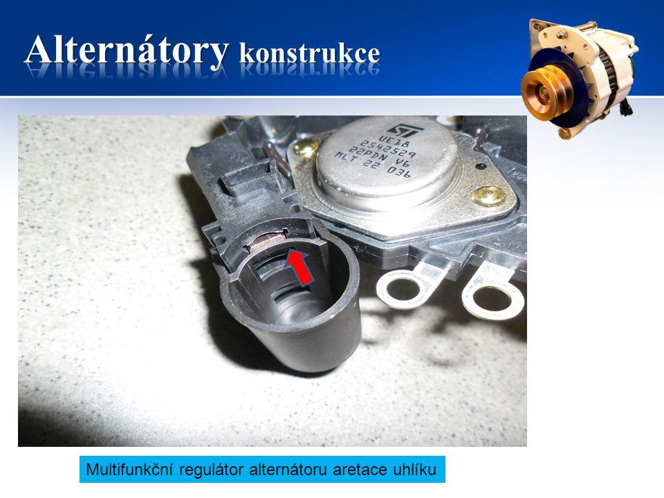 Multifunkční regulátor alternátoru aretace uhlíku