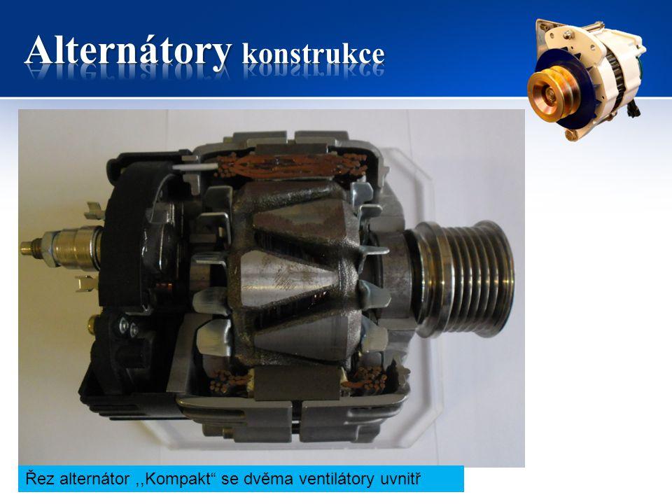 """Řez alternátor,,Kompakt"""" se dvěma ventilátory uvnitř"""