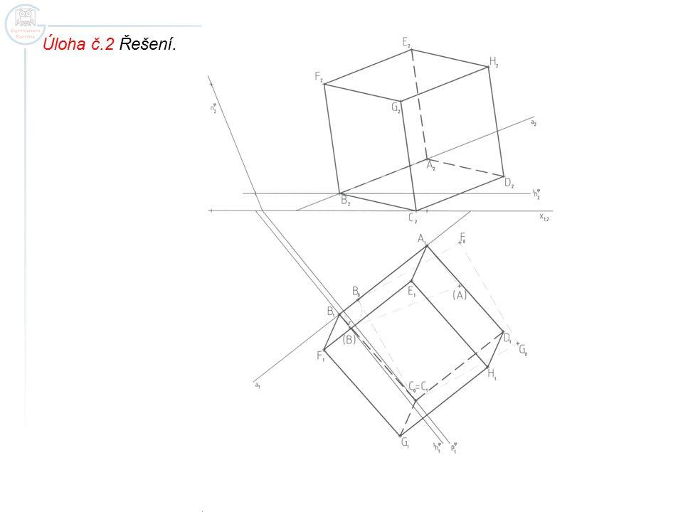 Úloha č.3 Zobrazte pravidelný trojboký jehlan ABCV, je-li dána hrana AB a leží-li hlavní vrchol V na základnici.