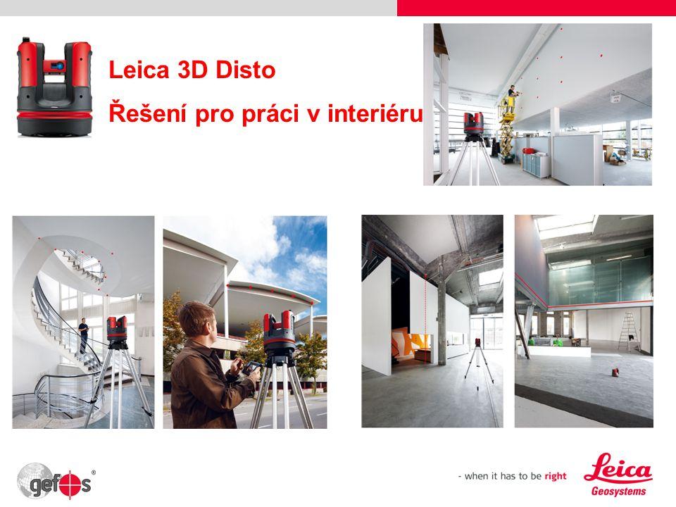 Leica 3D Disto Řešení pro práci v interiéru 39