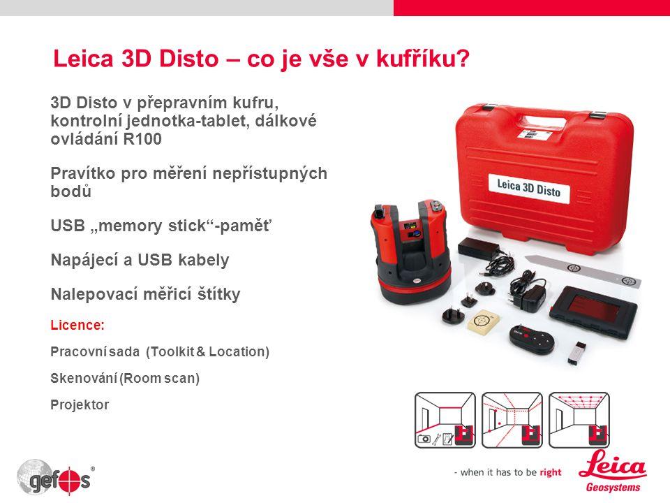 Leica 3D Disto – co je vše v kufříku.