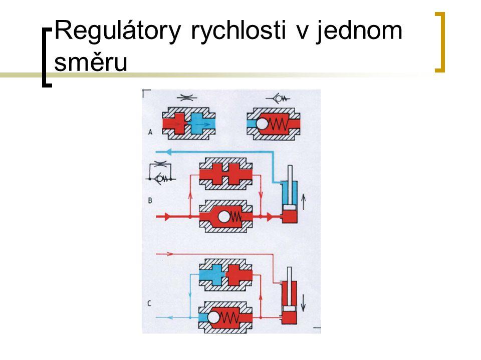 Regulátory rychlosti v jednom směru