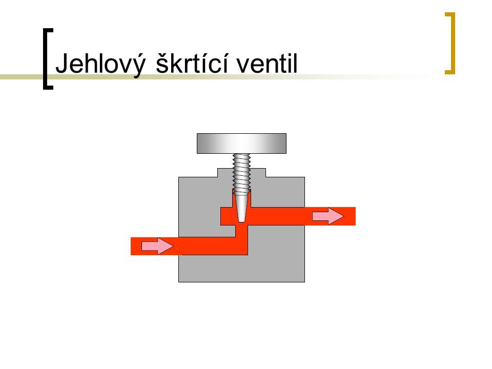 Jehlový škrtící ventil