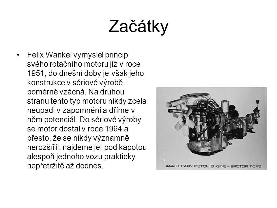 Začátky Felix Wankel vymyslel princip svého rotačního motoru již v roce 1951, do dnešní doby je však jeho konstrukce v sériové výrobě poměrně vzácná.