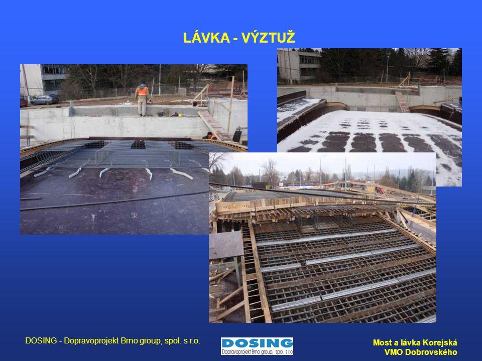 DOSING - Dopravoprojekt Brno group, spol. s r.o. Most a lávka Korejská VMO Dobrovského LÁVKA - VÝZTUŽ