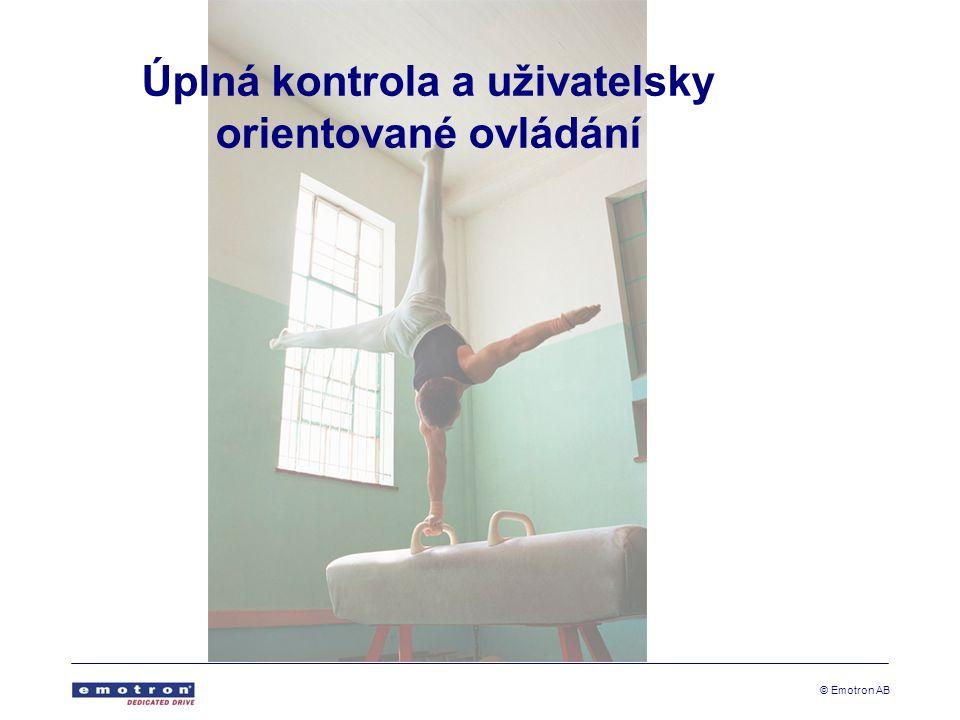 © Emotron AB Úplná kontrola a uživatelsky orientované ovládání