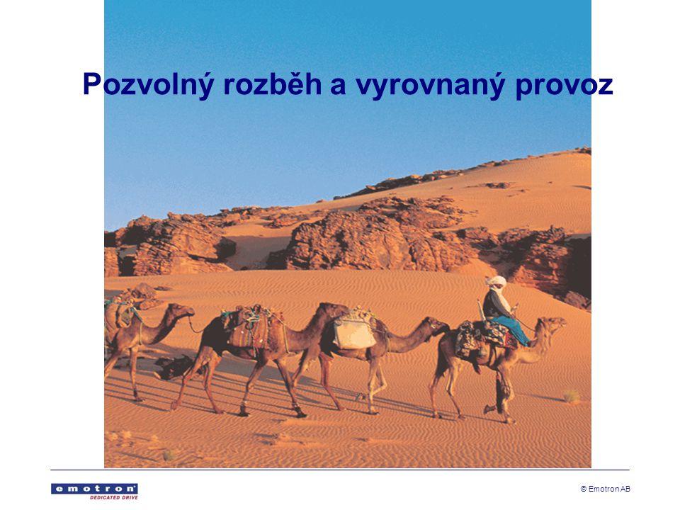 © Emotron AB Pozvolný rozběh a vyrovnaný provoz