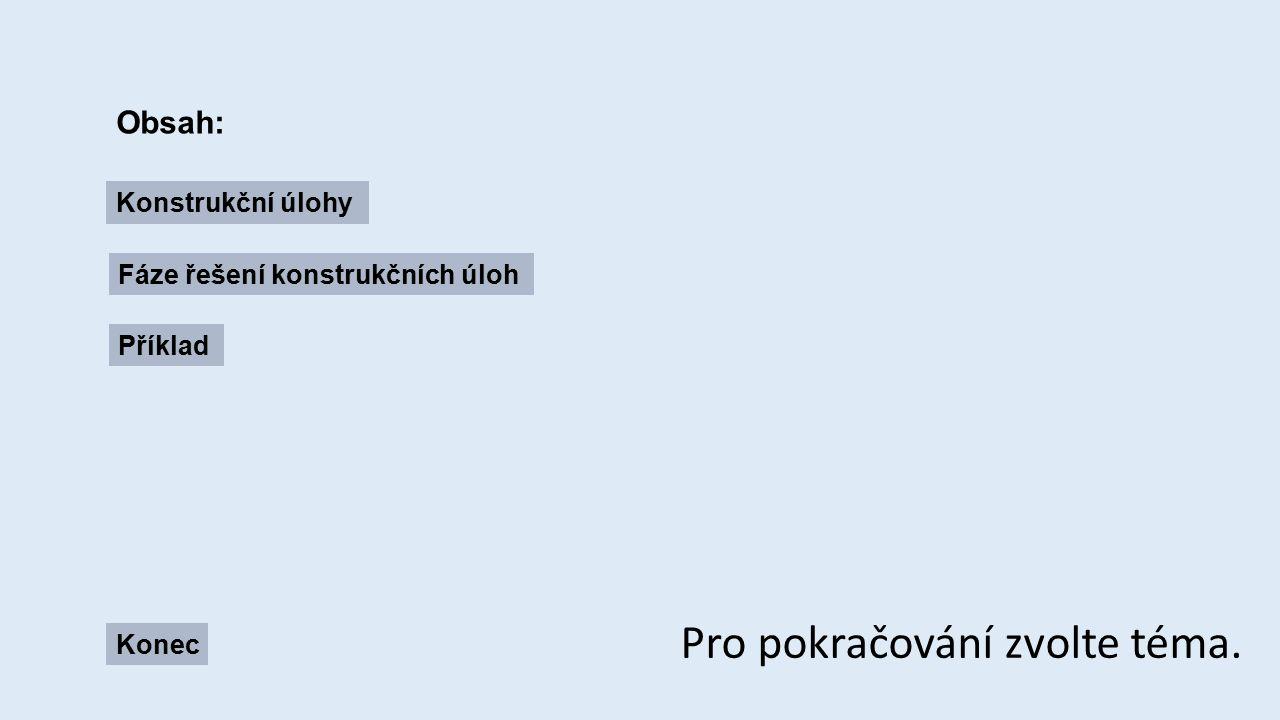 Konstrukční úlohy: obsah Cílem konstrukční úlohy je sestrojit obrazec daných vlastností.