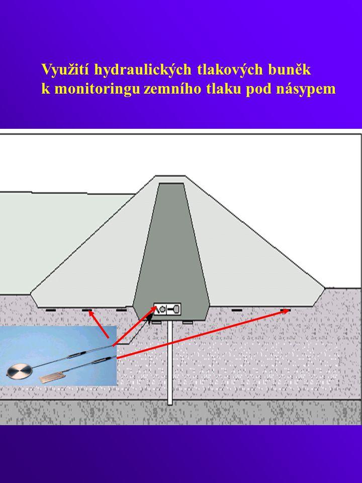 KULOVÝ SNÍMAČ NAPĚTÍ průměr 1 m snímač tlaku měřidlo pórového tlaku náklonoměr Oblasti použití: umožňuje stanovit úplný tenzor napětí základová spára náspů základová spára výsypek tělesa sypaných přehrad