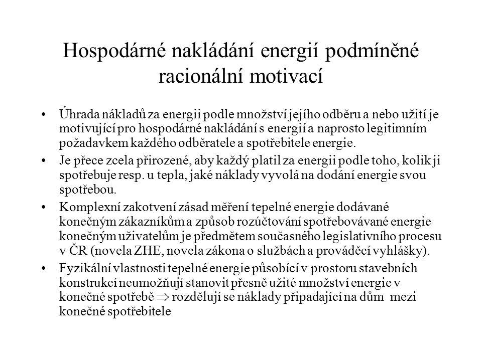 Ustanovení vztahující se k registraci a měření tepla v budově vyhlášky č.