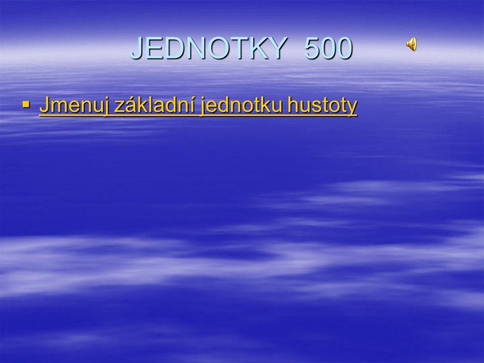 JEDNOTKY 400  Stanov převodní číslo hustoty Stanov převodní číslo hustoty Stanov převodní číslo hustoty