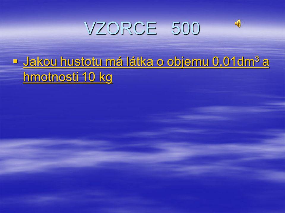 VZORCE 400  Jaký objem v mm 3 má těleso, jestliže se hladina odměrného válce přemístila z polohy 1 do polohy 2 Jaký objem v mm 3 má těleso, jestliže