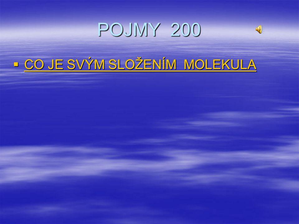 POJMY 200  CO JE SVÝM SLOŽENÍM MOLEKULA CO JE SVÝM SLOŽENÍM MOLEKULA CO JE SVÝM SLOŽENÍM MOLEKULA