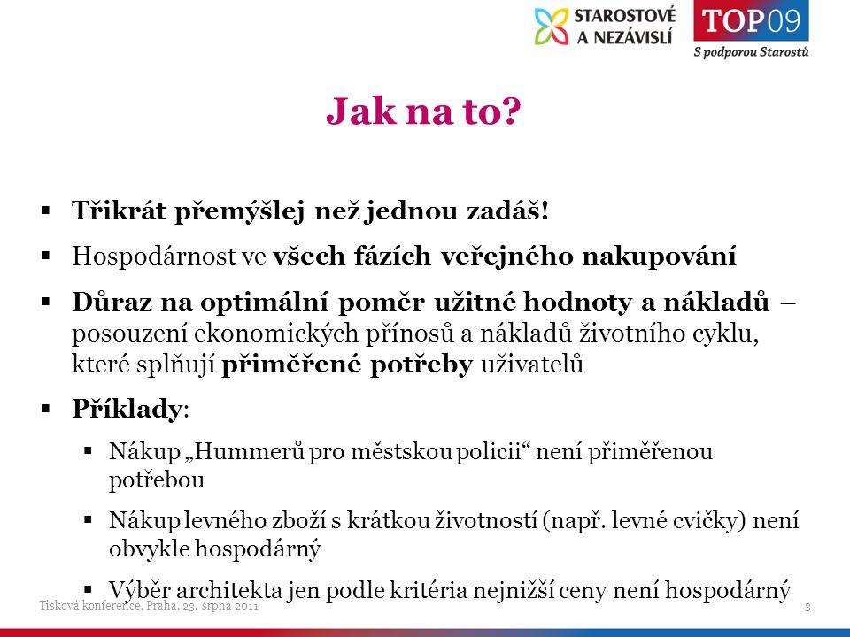 Vybrané věcné návrhy změn k návrhu novely ZVZ Tisková konference, Praha, 23.